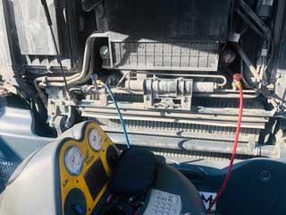 Диагностика автокондиционера грузового автомобиля