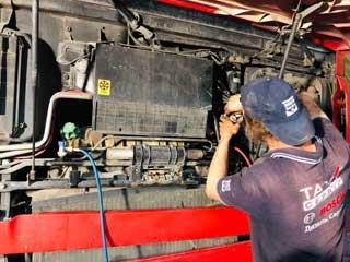 Ремонт автокондиционера грузового автомобиля